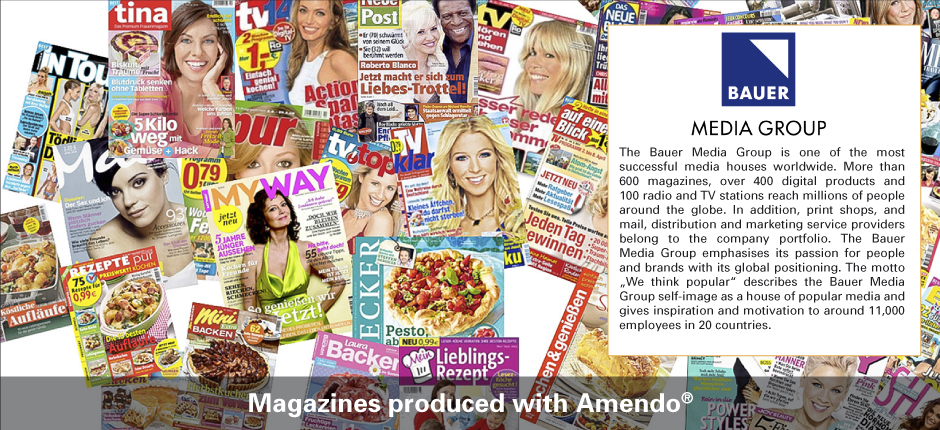 Slider Magazines produced with Amendo by BauerMedia